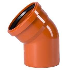 Отвод наружн. канализация D 110x45° OSTENDORF, Диаметр канализационной трубы: 110, Угол наклона: 45°, фото