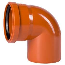 Отвод наружн. канализация D 160x87° OSTENDORF, Диаметр канализационной трубы: 160, Угол наклона: 87°, фото