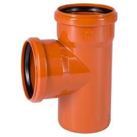 Тройник наружн. канализация D 160x110 угол 87° OSTENDORF, Диаметр канализационной трубы: 160, Размер тройника канализации: D 160x110 угол 87°, фото