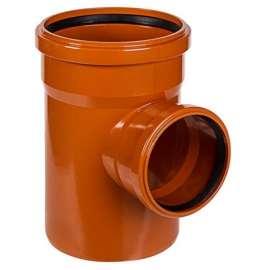 Тройник наружн. канализация D 160x160 угол 90°, Диаметр канализационной трубы: 160, Размер тройника канализации: D 160x160 угол 90°, фото