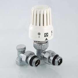 """Комплект терморегулирующего оборудования для радиатора угловой 1/2"""" VALTEC, фото"""