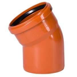 Отвод наружн. канализация D 110x30° OSTENDORF, Диаметр канализационной трубы: 110, Угол наклона: 30°, фото