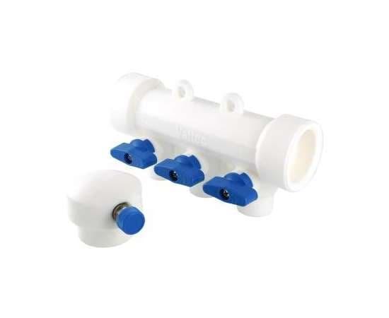 Коллектор с отсечными кранами полипропиленовый 40-2x20 бел. VALTEC, фото