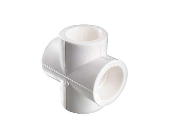 Крестовина полипропиленовая  50 бел. VALTEC, Диаметр трубы ППР: 50, фото