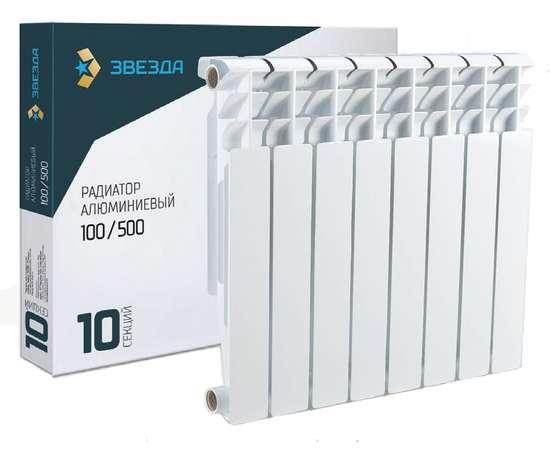 Радиатор алюминиевый ЗВЕЗДА 500/100 6 секц., фото