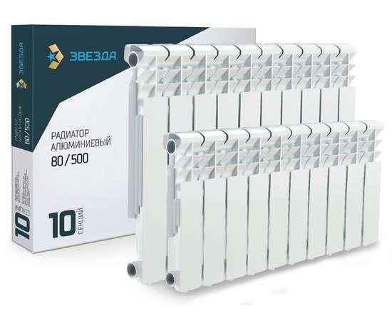 Радиатор алюминиевый ЗВЕЗДА 500/80 10 секц., Количество секций: 10, фото