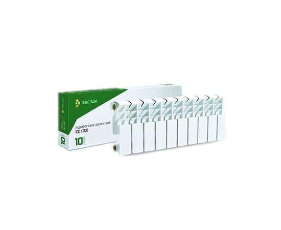 Радиатор алюминиевый ЗВЕЗДА 200/100 10 секц., фото