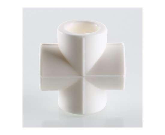 Крестовина полипропиленовая  50 бел. VALTEC, Диаметр трубы ППР: 50, фото , изображение 4