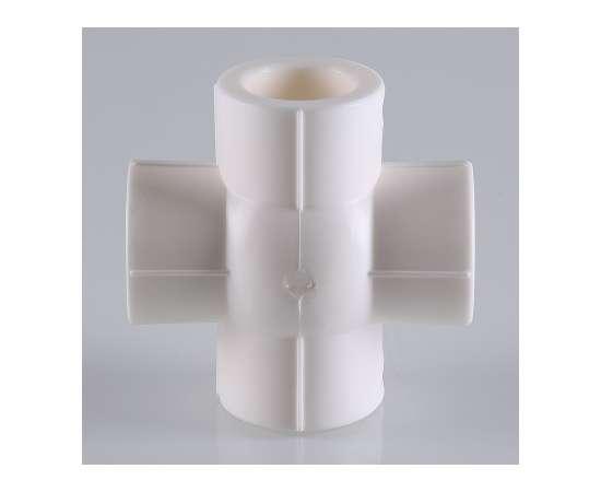 Крестовина полипропиленовая компланарная 20 бел. VALTEC, фото , изображение 5