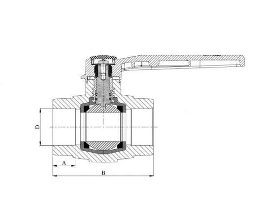 Кран шаровой полипропиленовый 32 сер. HEISSKRAFT, Диаметр трубы ППР: 32, фото , изображение 2