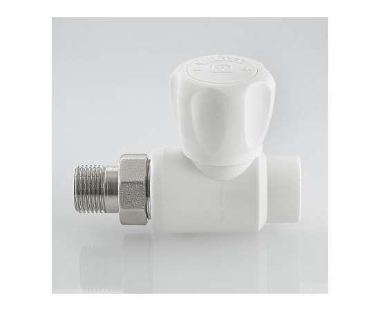 """Кран шаровой для подключения радиатора прямой полипропиленовый 20x1/2"""" бел. VALTEC, Диаметр трубы ППР: 20, фото , изображение 3"""